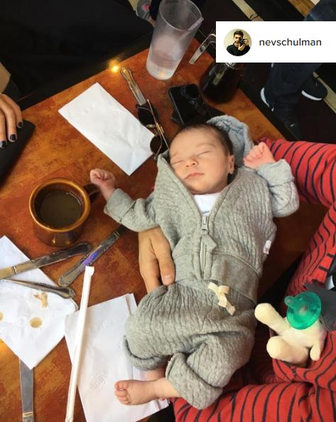 nev_schulman_instagram_daughter_cleo_james_wubbanub_lamb_pacifier